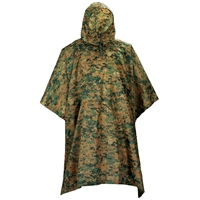 5ive Star Gear Woodland Digital Poncho 3128