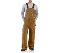 Carhartt Duck Zip to Thigh Bib Overall Quilt Lined - R41