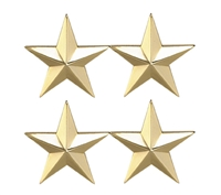 Two Star 1 Inch Gold Insignia - 4471G