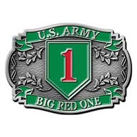 US Army 1st Inf Division Belt Buckle - B0105