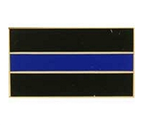 USA Blue Line Honor Flag-Pin - P02019
