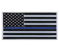 USA Blue Line Honor Flag-Pin - P02782