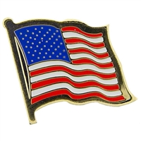Wavy USA Flag-Pin - P09615