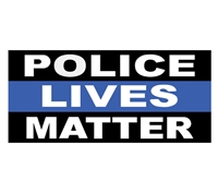 Police Lives Matter Bumper Sticker 10-480