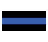 Police-Thin Blue Line Bumper Sticker 10-481
