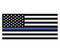 USA flag-thin blue line bumper sticker 10-482