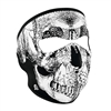 Zanheadgear Black And White Skull Face - WNFM002