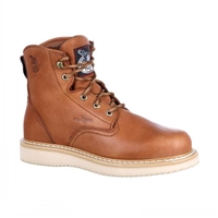 Georgia G6152 Boots Mens Tan 6-Inch Wedge Work Boots