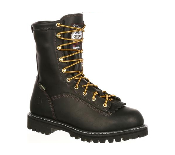 4dfb2dc0661 G8040 Georgia Boots Mens Black 8-Inch Gore-Tex Insulated Work Boots