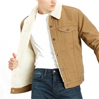 Levis Cougar Canvas Sherpa Trucker Jacket - 16365-0122