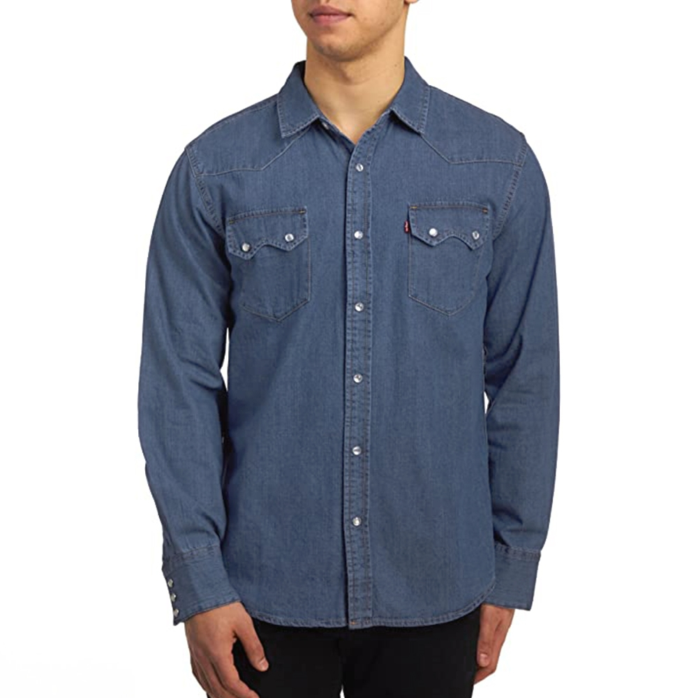 daf6ab8f243 Levis Sawtooth Western Denim Shirt 3LYLW2622CC View Larger Photo
