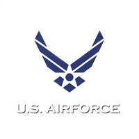 US Air Force Wing Logo Window Decal D106-AF
