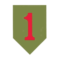 US Army Big Red One 1st Infantry Decal D153-A