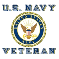 US Navy Veteran with Crest Logo Decal D156-N