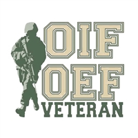 OIF OEF Veteran with Soldier Decal D185