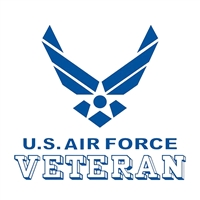 US Air Force Veteran with Wing Logo Decal D188-AF