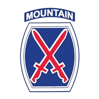 US Army 10th Mountain Division Decal D193-A