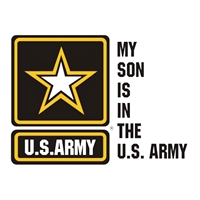My Son is in the Army Window Decal D250-A