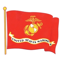 US Marine Corps Wavy Flag Decal D27-M