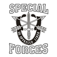 US Army Special Forces Decal D344-A