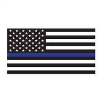 American Flag Thin Blue Line Decal D420