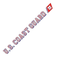 US Coast Guard Window Strip Decal D45-CG