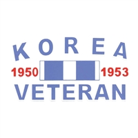 Korea Veteran Ribbon Decal D50