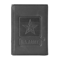 US Army Star Embossed Trifold Wallet TW-27