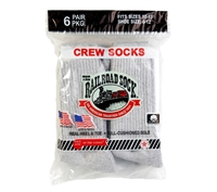 Railroad Socks Grey Crew Socks - 6072