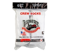 Railroad Socks White Crew Socks - 6090