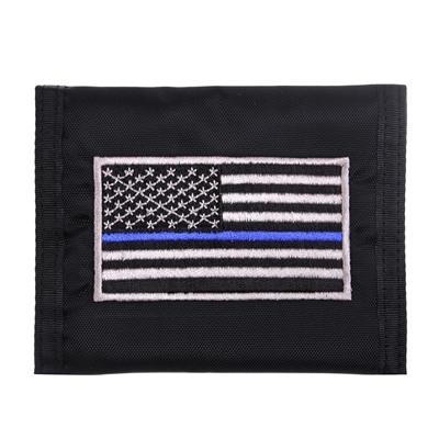 Rothco Thin Blue Line Flag Nylon Commando Wallet 10649