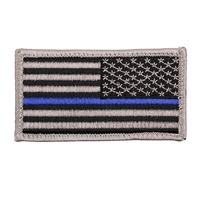 Rothco Reverse Thin Blue Line Police US Flag Patch 1179