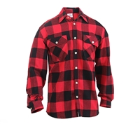 Rothco Red Buffalo Plaid Lightweight Flannel Shirt 1190