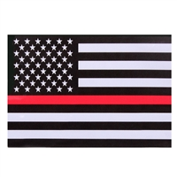Rothco Thin Red Line Flag Decal 1295