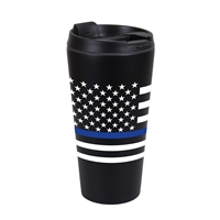 Rothco Thin Blue Line Flag Travel Mug - 1299