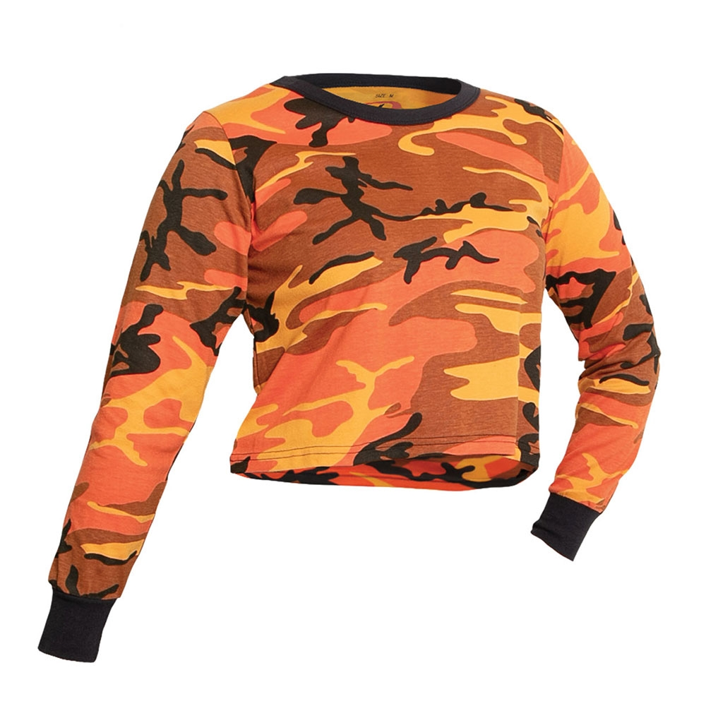 96079c29d33afb Rothco Women Camo Long Sleeve Crop Top - 1665. View Larger Photo