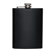 Rothco Black Stainless Steel Flask - 1677