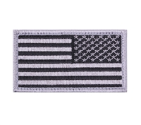 Rothco Silver Black American Flag Patch - 17784