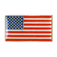 Rothco Classic Rectangular US Flag Pin - 1867