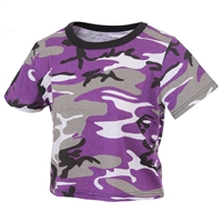 Rothco Womens Ultra Violet Camo Crop Top 1941