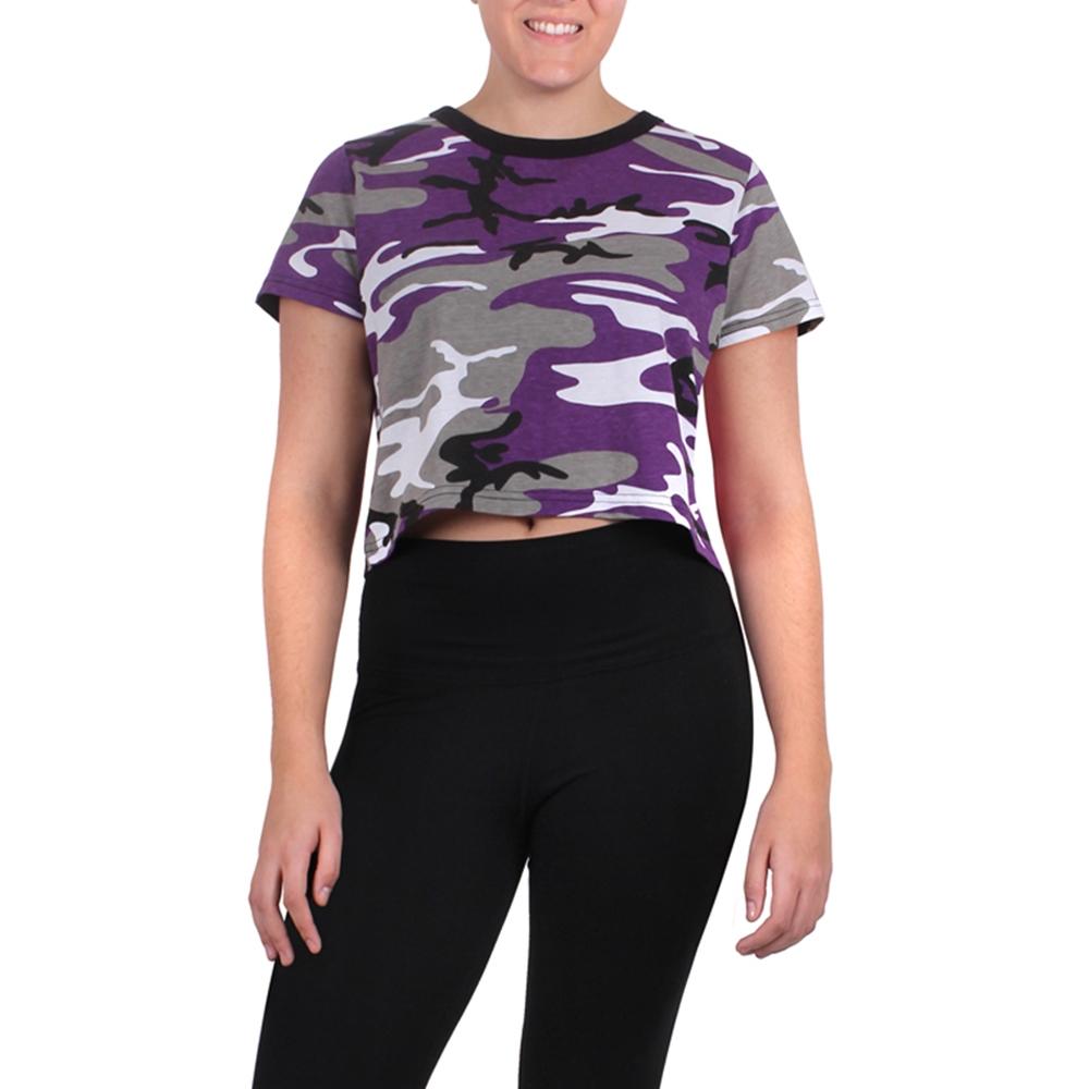 89890890e5a90 Rothco Womens Ultra Violet Camo Crop Top 1941