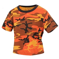 Rothco Womens Savage Orange Camo Crop Top 1942