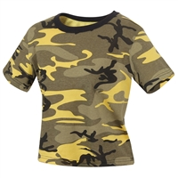 Rothco Womens Stinger Yellow Camo Crop Top 1944