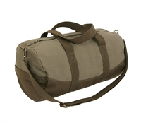 Rothco 2 Tone Canvas Duffle Bag witha Brown Bottom 2220