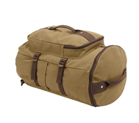 Rothco Coyote and Brown Convertible 19In Canvas Duffle/Backpack -2225