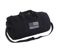 Rothco Thin Blue Line Canvas Shoulder Duffle Bag 2230