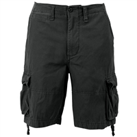 Rothco Black Washed Out Vintage Utility Shorts - 2552