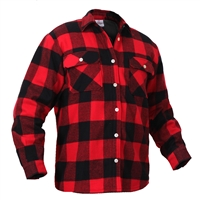 Rothco Fleece Lined Red Flannel Shirt - 2739