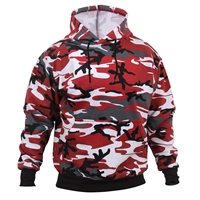 Rothco 2790 Red Camouflage Pullover Hooded Sweatshirt