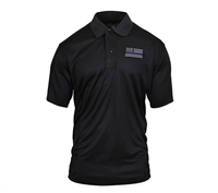 Rothco Thin Blue Line Moisture Wicking Polo 2812